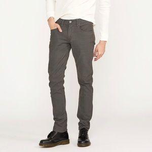 Hudson Blake Slim Straight Twill Jean in Dark Grey